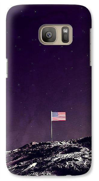 Galaxy Case featuring the digital art Fun On The Moon by Methune Hively