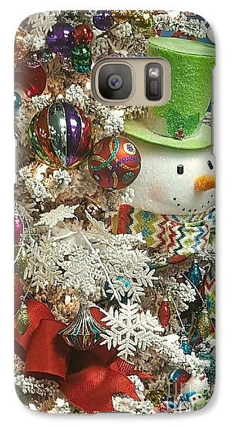Fun Snowman Holiday Greeting Galaxy S7 Case