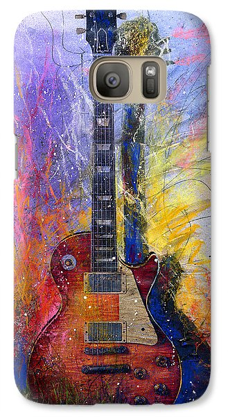 Galaxy Case featuring the painting Fun With Les by Andrew King