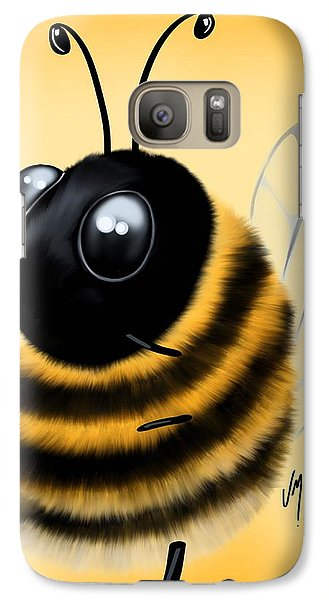 Galaxy Case featuring the painting Funny Bee by Veronica Minozzi