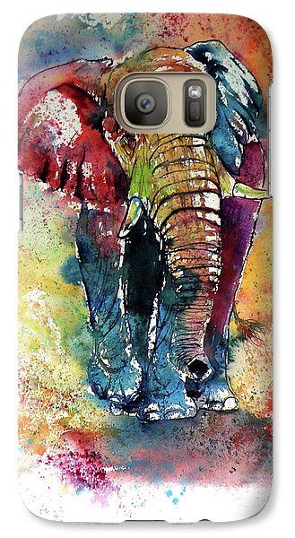 Galaxy Case featuring the painting Funny Elephant by Kovacs Anna Brigitta