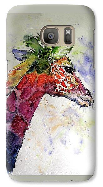Galaxy Case featuring the painting Funny Giraffe by Kovacs Anna Brigitta