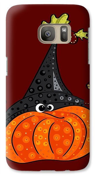 Galaxy Case featuring the painting Funny Halloween by Veronica Minozzi
