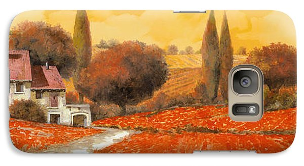 Landscapes Galaxy S7 Case - fuoco di Toscana by Guido Borelli