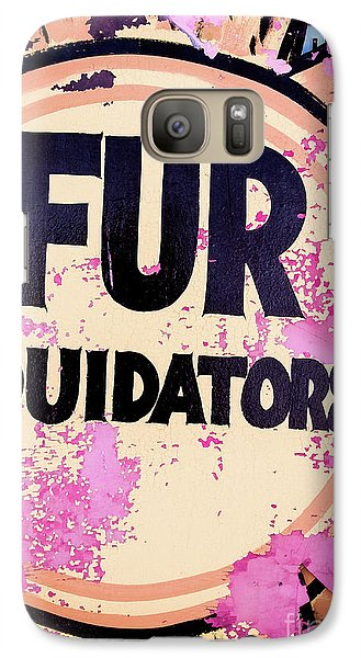 Galaxy Case featuring the photograph Fur - Sign by Colleen Kammerer