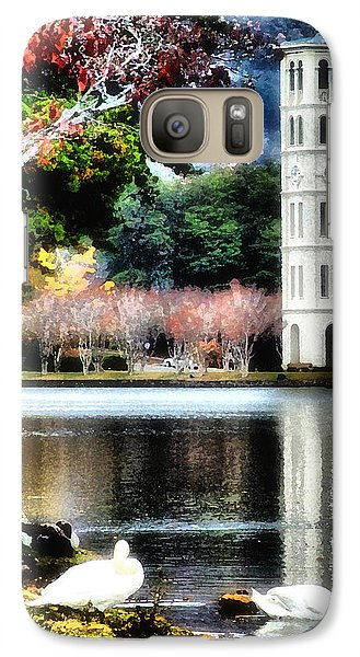 Galaxy Case featuring the painting Furman University Bell Tower by Lynne Jenkins
