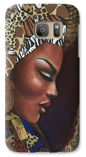 Galaxy Case featuring the mixed media Further Contemplation by Alga Washington