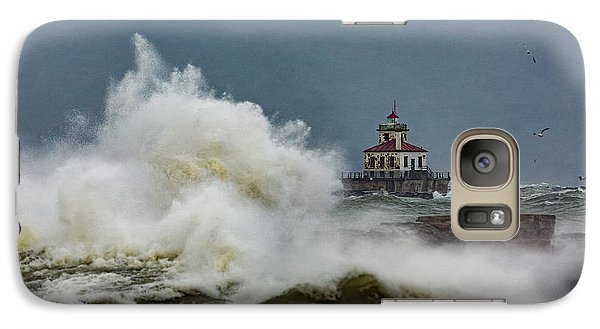 Galaxy Case featuring the photograph Fury On The Lake by Everet Regal