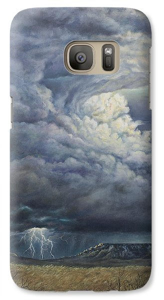 Galaxy Case featuring the painting Fury Over Square Butte by Kim Lockman