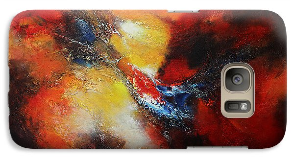 Galaxy Case featuring the painting Fury by Patricia Lintner