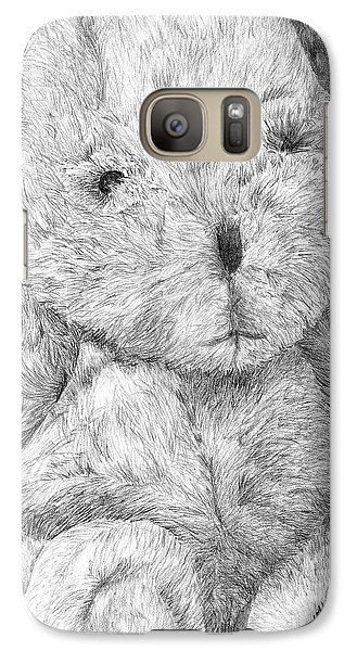 Galaxy Case featuring the drawing Fuzzy Wuzzy Bear  by Vicki  Housel