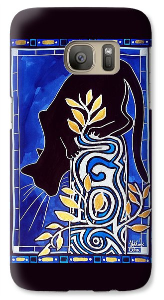 G Is For Gato - Cat Art With Letter G By Dora Hathazi Mendes Galaxy S7 Case