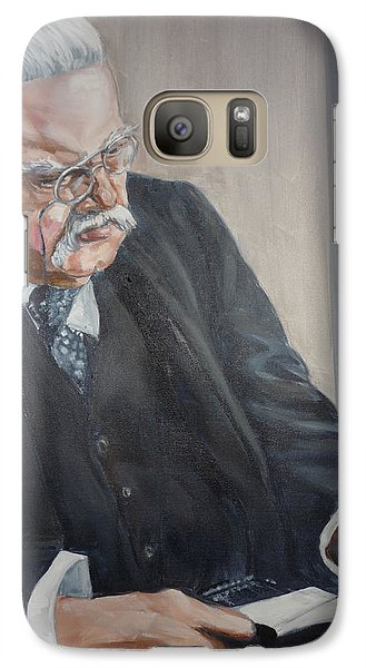 Galaxy Case featuring the painting G K Chesterton by Bryan Bustard