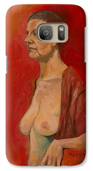 Galaxy Case featuring the painting Gabrielle Standing by Ray Agius