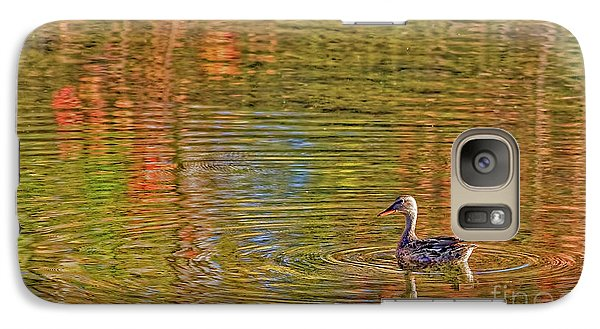 Galaxy Case featuring the photograph Gadwall In Fall by Gary Holmes