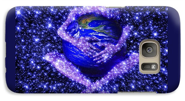 Galaxy Case featuring the painting Gaia's Love by Robby Donaghey