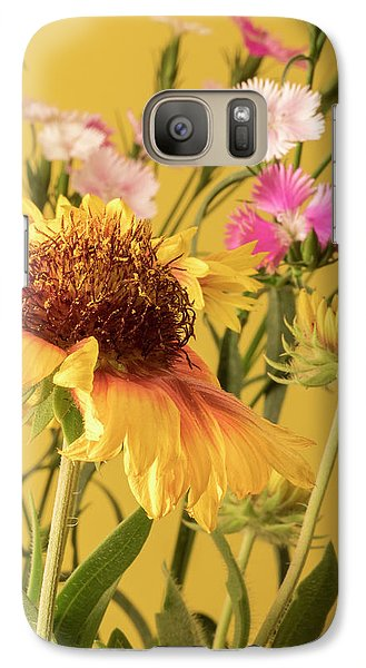 Galaxy Case featuring the photograph Gaillardia And Dianthus by Richard Rizzo