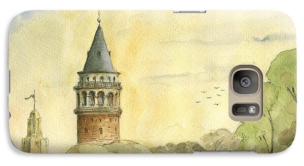 Turkey Galaxy S7 Case - Galata Tower Istanbul by Juan Bosco