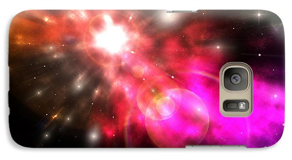 Galaxy Case featuring the digital art Galaxy Of Light by Phil Perkins