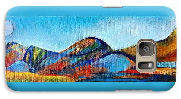 Galaxy Case featuring the painting Galaxyscape by Elizabeth Fontaine-Barr
