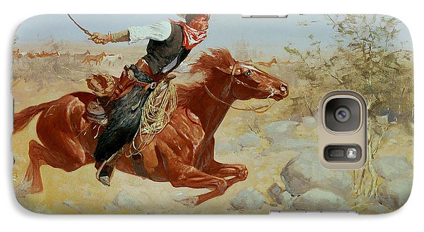 Horse Galaxy S7 Case - Galloping Horseman by Frederic Remington