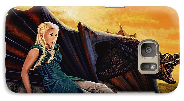Dragon Galaxy S7 Case - Game Of Thrones Painting by Paul Meijering