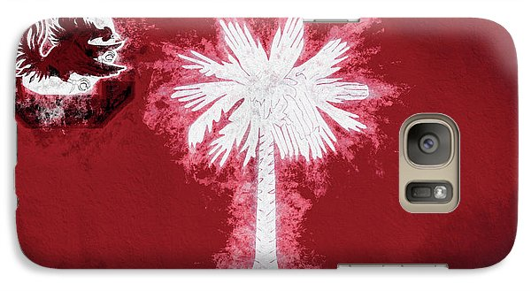 Galaxy S7 Case featuring the digital art Gamecocks South Carolina State Flag by JC Findley
