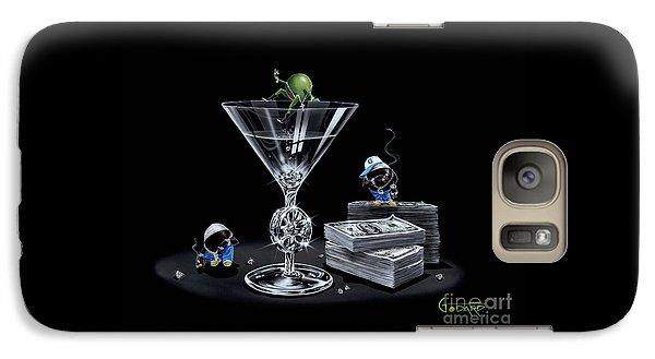 Martini Galaxy S7 Case - Gangsta Martini Livin' Large by Michael Godard