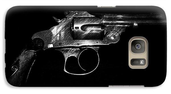 Galaxy Case featuring the mixed media Gangster Gun by Daniel Hagerman