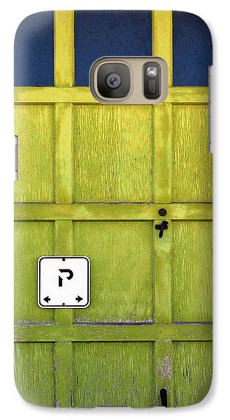 Galaxy Case featuring the photograph Garage Door by Ethna Gillespie