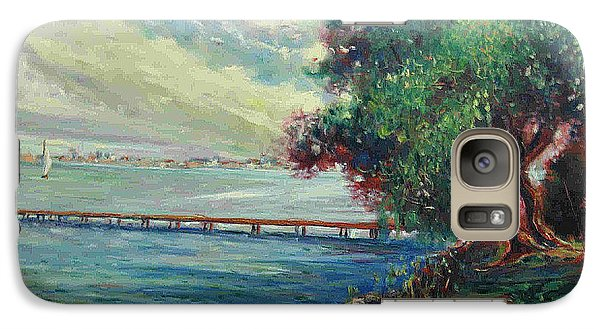 Galaxy Case featuring the painting Garda Lake -lago Garda by Walter Casaravilla