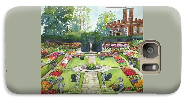 Galaxy Case featuring the painting Garden At Hampton Court Palace by Susan Herbst