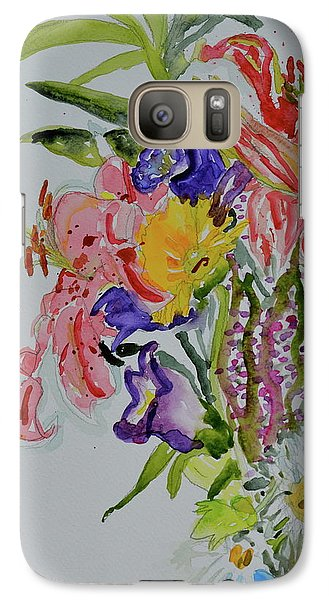 Galaxy Case featuring the painting Garden Bouquet by Beverley Harper Tinsley