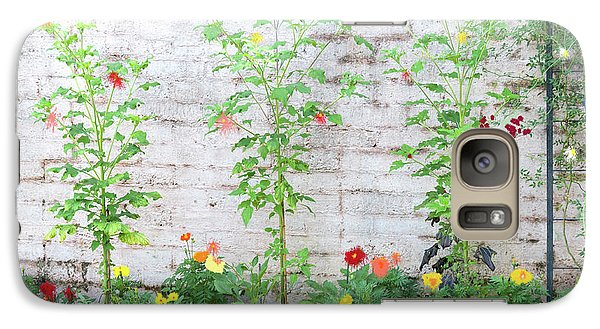 Galaxy Case featuring the photograph Garden Florals by Carolyn Dalessandro