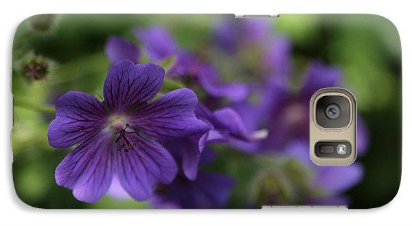 Galaxy Case featuring the photograph garden Flowers June 15 2015 by Jim Vance