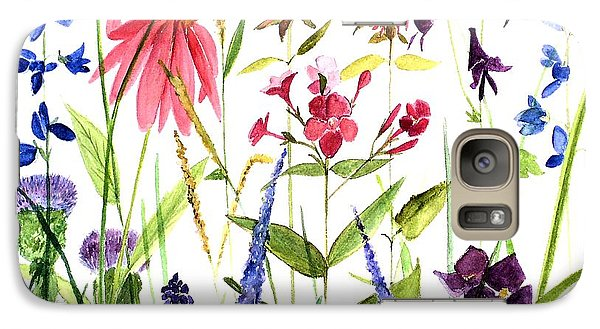 Galaxy Case featuring the painting Garden Flowers by Laurie Rohner