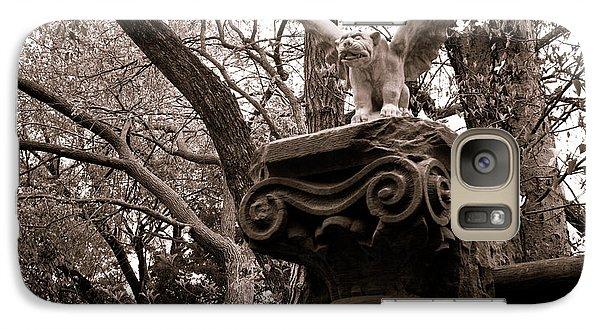 Galaxy Case featuring the photograph Garden Gargoyle  by Toni Hopper