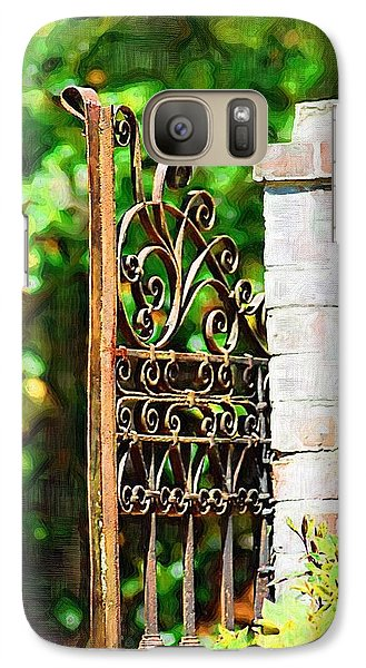 Galaxy Case featuring the photograph Garden Gate by Donna Bentley
