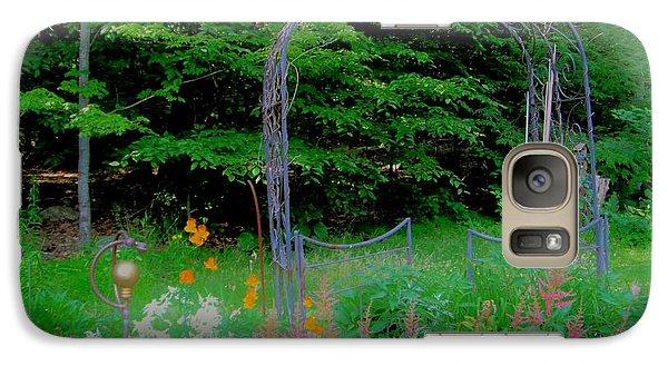 Galaxy Case featuring the photograph Garden Gate by Susan Carella
