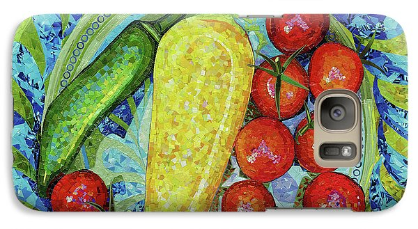 Galaxy Case featuring the mixed media Garden Harvest by Shawna Rowe