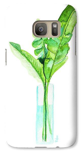 Banana Galaxy S7 Case - Garden Indoors by Roleen Senic