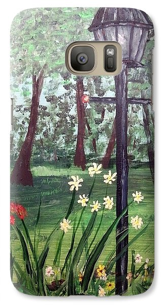 Galaxy Case featuring the painting Garden Light by Debbie Baker