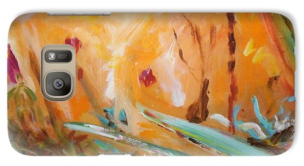 Galaxy S7 Case featuring the painting Garden Moment by Winsome Gunning