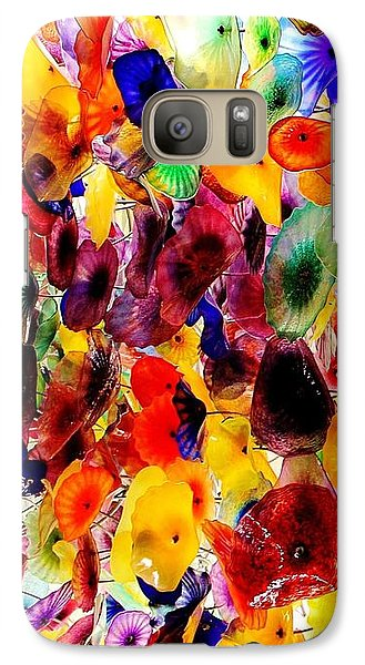 Galaxy Case featuring the photograph Garden Of Glass Triptych 1 Of 3 by Benjamin Yeager
