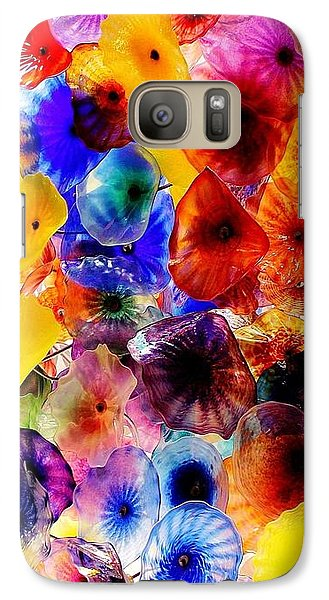 Galaxy Case featuring the photograph Garden Of Glass Triptych 2 Of 3 by Benjamin Yeager
