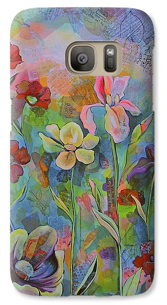Garden Of Intention - Triptych Center Panel Galaxy Case by Shadia Derbyshire