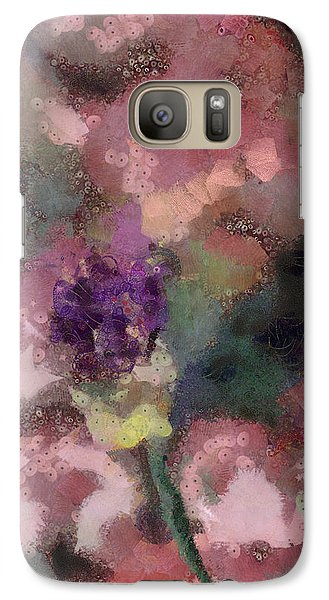 Galaxy Case featuring the mixed media Garden Of Love by Trish Tritz