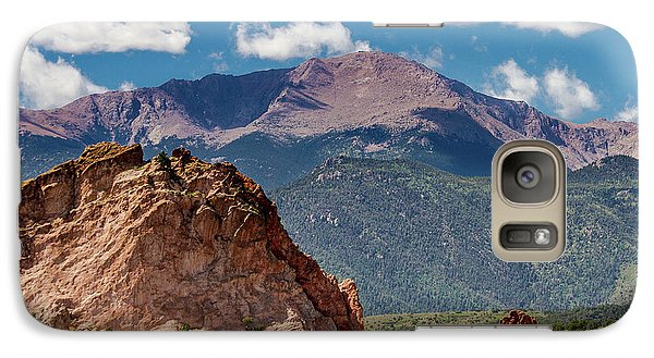 Galaxy Case featuring the photograph Garden Of The Gods And Pikes Peak by Bill Gallagher