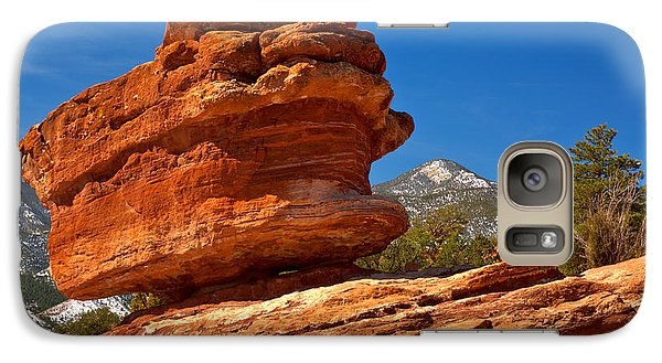 Galaxy Case featuring the photograph Garden Of The Gods Balanced Rock by Adam Jewell