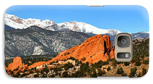 Galaxy Case featuring the photograph Garden Of The Gods Extended Panorama by Adam Jewell